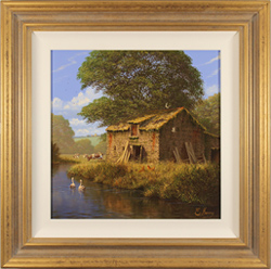 Edward Hersey, Original oil painting on canvas, Summer in the Cotswolds