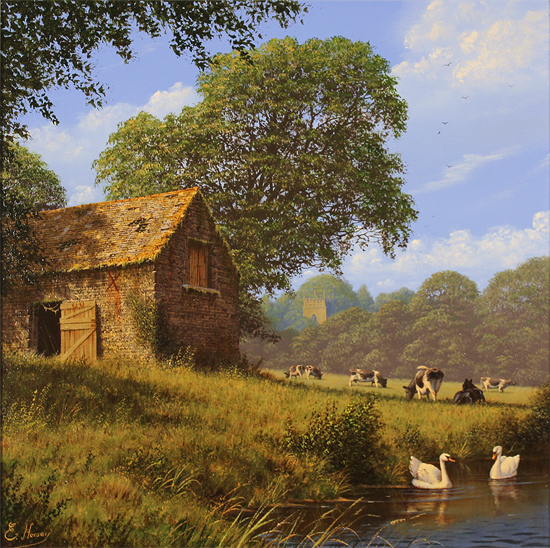 Edward Hersey, Original oil painting on canvas, Lost Days of Summer