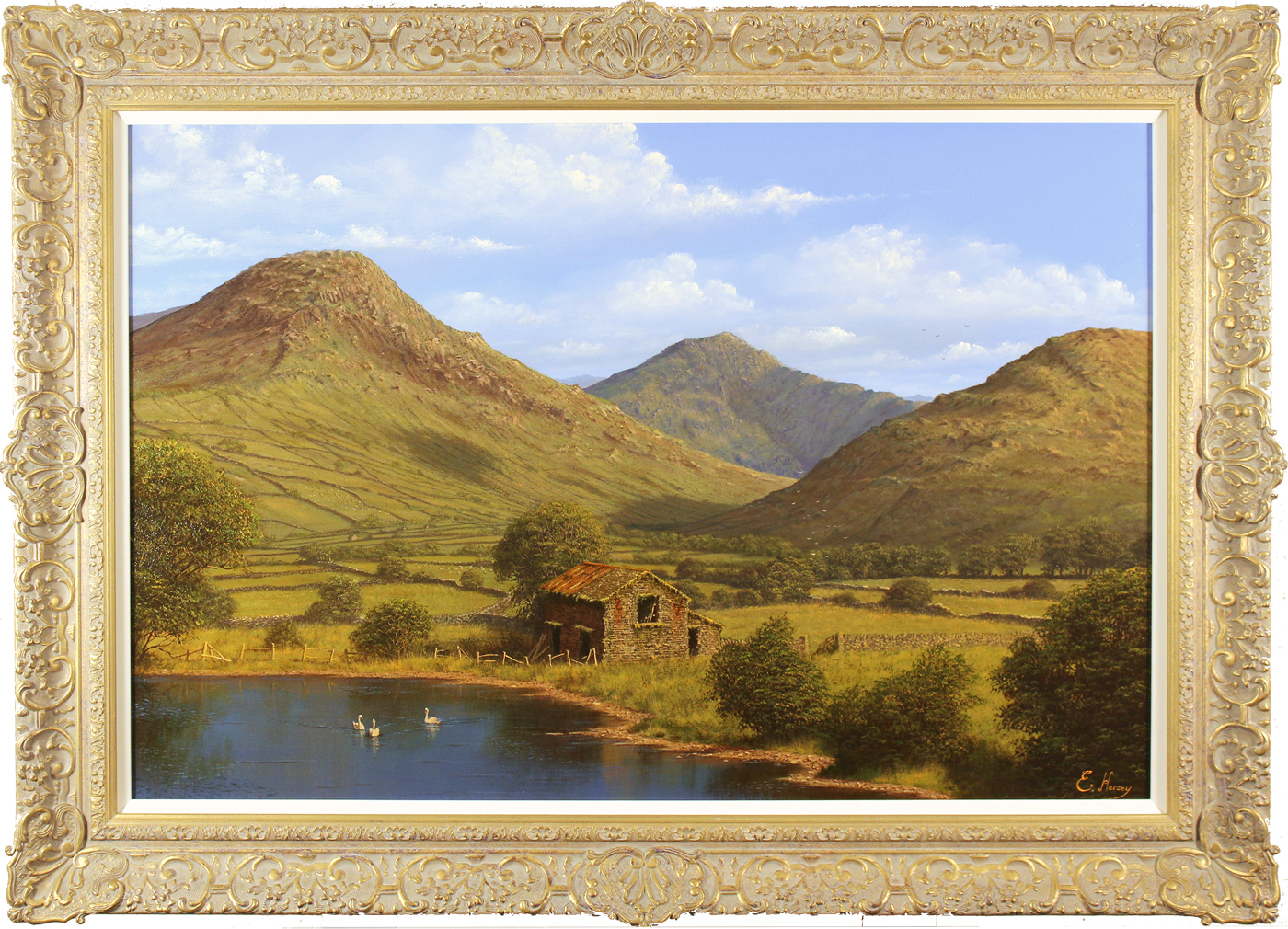Edward Hersey, Original oil painting on canvas, Cumbrian Majesty, Loweswater, The Lake District. Click to enlarge