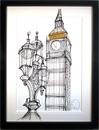 Edward Waite, Original acrylic painting on canvas, Big Ben