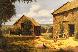 Edward Hersey, Signed limited edition print, To the Vale and Beyond Large image. Click to enlarge