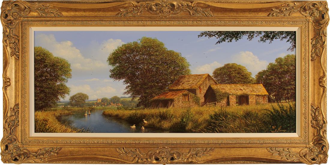 Edward Hersey, Original oil painting on canvas, West Country Scene. Click to enlarge