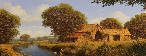 Edward Hersey, Original oil painting on canvas, West Country Scene Without frame image. Click to enlarge