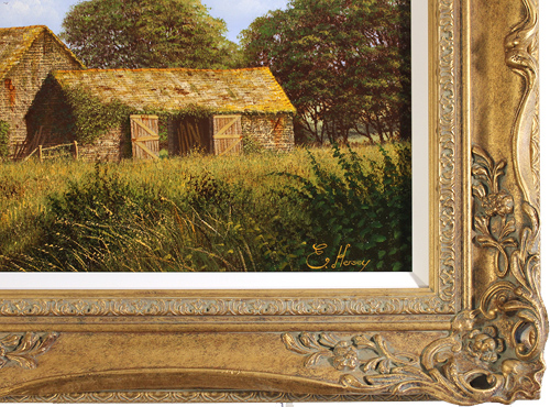 Edward Hersey, Original oil painting on canvas, West Country Scene Signature image. Click to enlarge