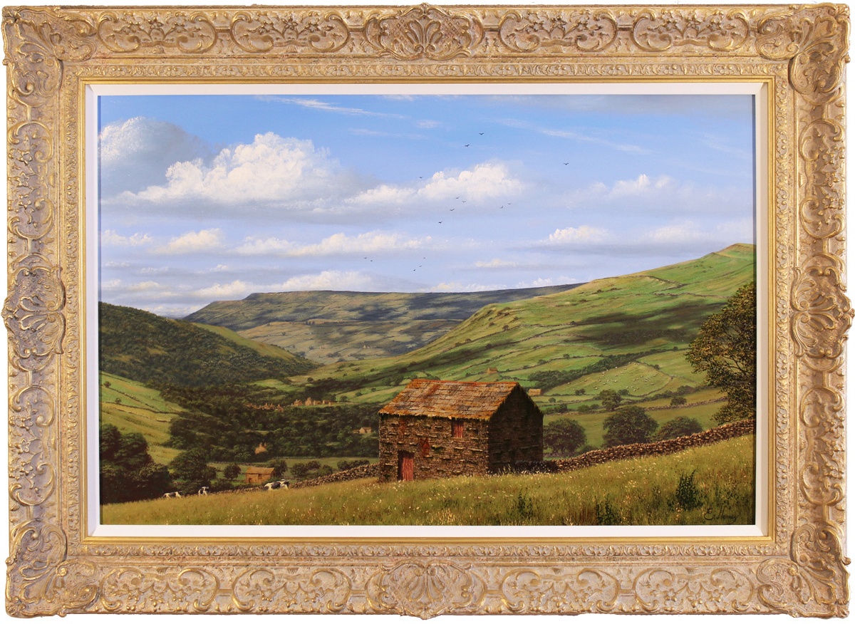 Edward Hersey, Original oil painting on canvas, Muker, North Yorkshire, click to enlarge