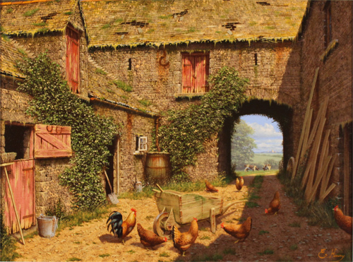Edward Hersey, Original oil painting on canvas, A Fine Summers Day