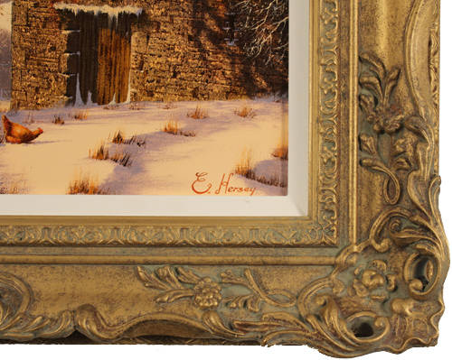 Edward Hersey, Original oil painting on canvas, Snow Scene Signature image. Click to enlarge