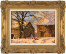 Edward Hersey, Original oil painting on canvas, Snow Scene Large image. Click to enlarge