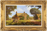 Edward Hersey, Original oil painting on canvas, Cotswolds Farm Large image. Click to enlarge