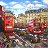 Ewen Macaulay, Original acrylic painting on canvas, Piccadilly Circus