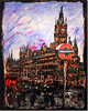 Ewen Macaulay, Original acrylic painting on canvas, St Pancras