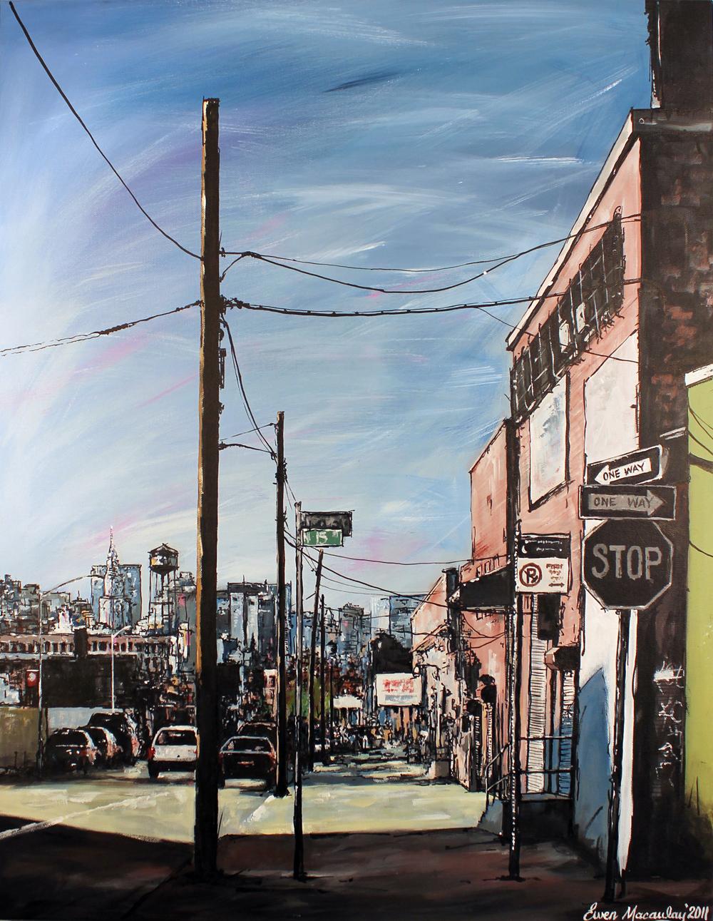 Ewen Macaulay, Original acrylic painting on canvas, New York. Click to enlarge