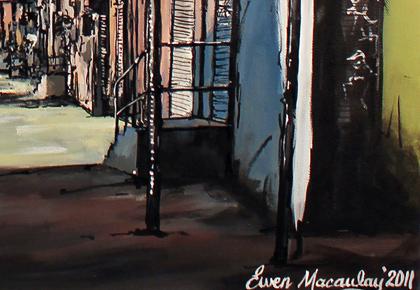Ewen Macaulay, Original acrylic painting on canvas, New York Signature image. Click to enlarge