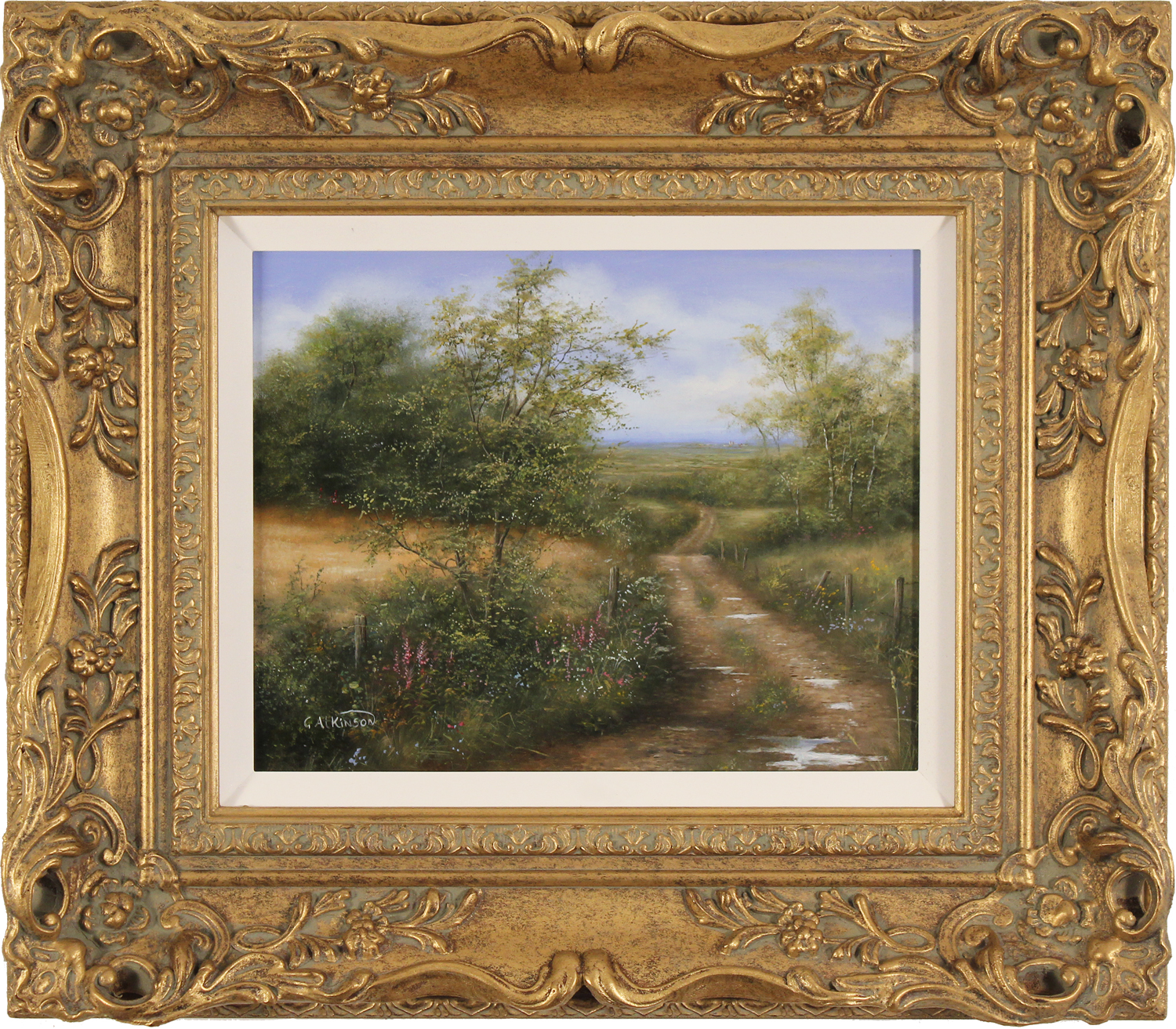 George Atkinson, Original oil painting on panel, Vale of York, click to enlarge