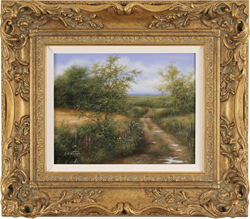 George Atkinson, Original oil painting on panel, Vale of York