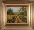 George Atkinson, Original oil painting on panel, Path of Garrowby Hill, Vale of York Large image. Click to enlarge