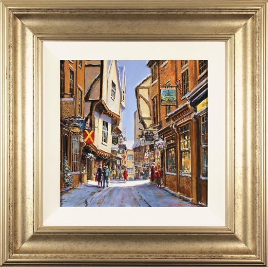 Gordon Lees, Original oil painting on panel, The Shambles, York