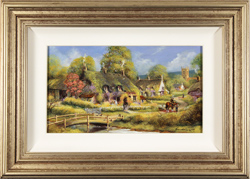 Gordon Lees, Original oil painting on panel, Spring Afternoon, The Cotswolds Large image. Click to enlarge