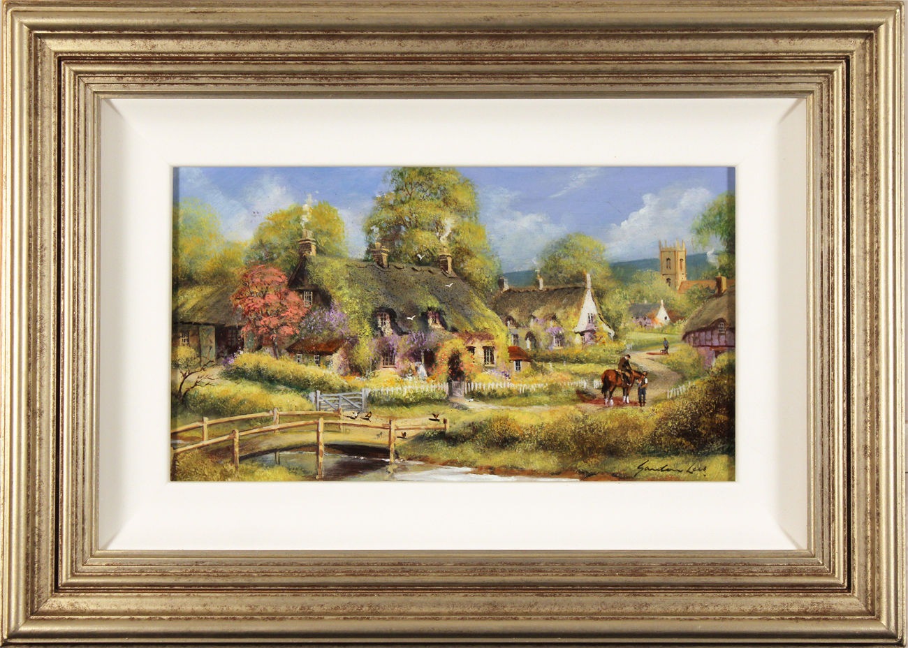 Gordon Lees, Original oil painting on panel, Spring Afternoon, The Cotswolds, click to enlarge
