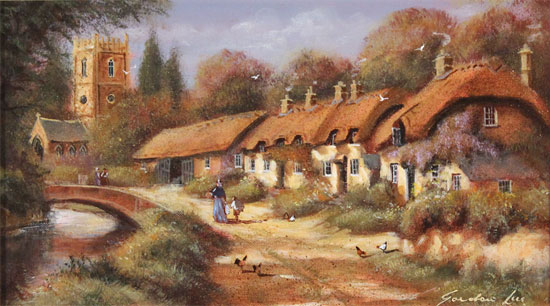 Gordon Lees, Original oil painting on canvas, Stanway, The Cotswolds
