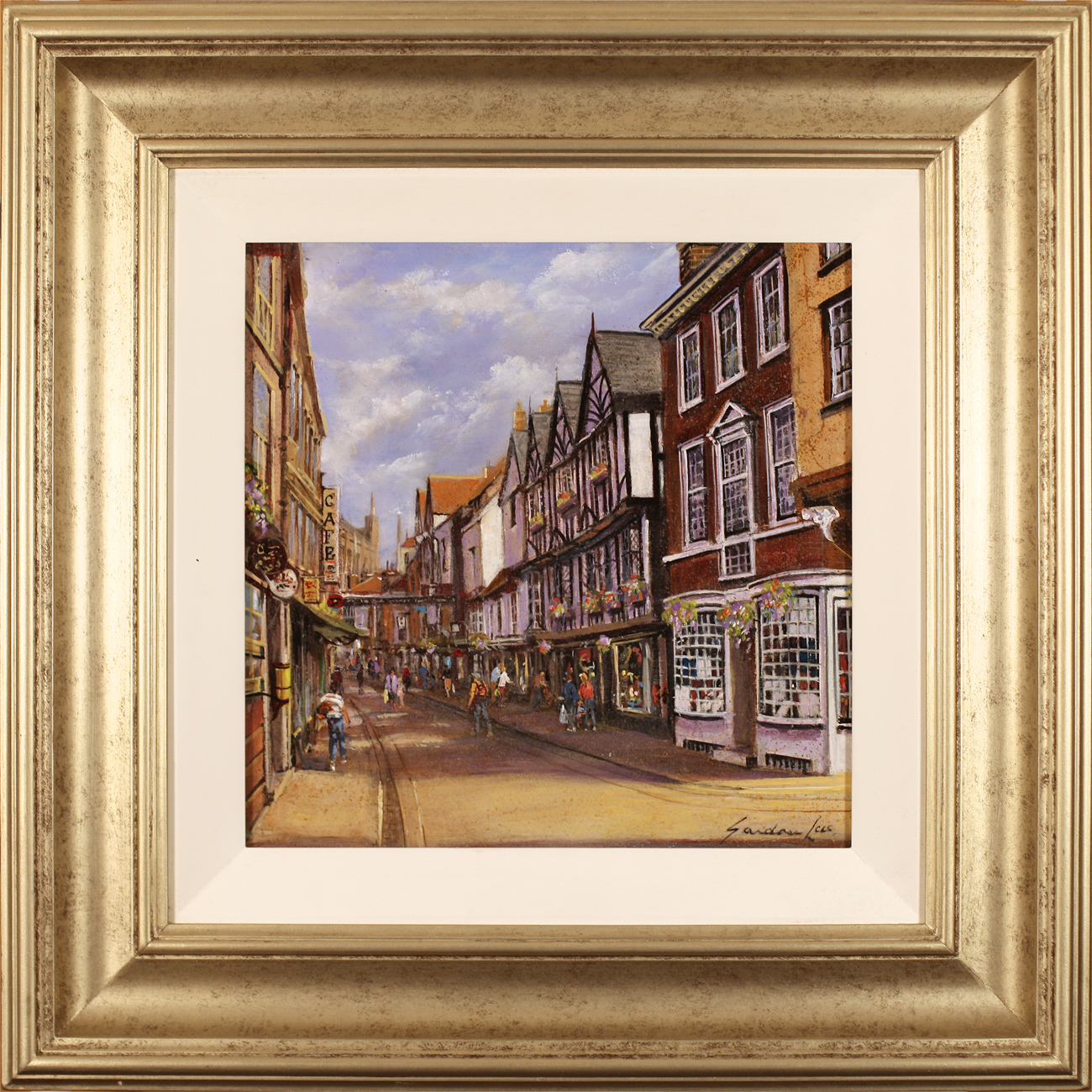 Gordon Lees, Original oil painting on panel, Stonegate, York. Click to enlarge