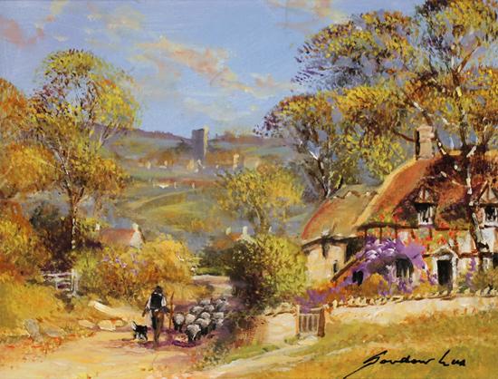 Gordon Lees, Original oil painting on panel, The Shepherd
