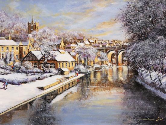 Gordon Lees, Original oil painting on panel, Winter Sun