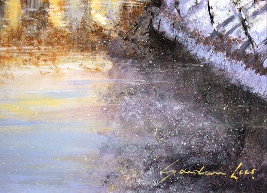 Gordon Lees, Original oil painting on panel, Winter Sun Signature image. Click to enlarge