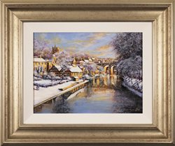 Gordon Lees, Original oil painting on panel, Winter Sun Large image. Click to enlarge
