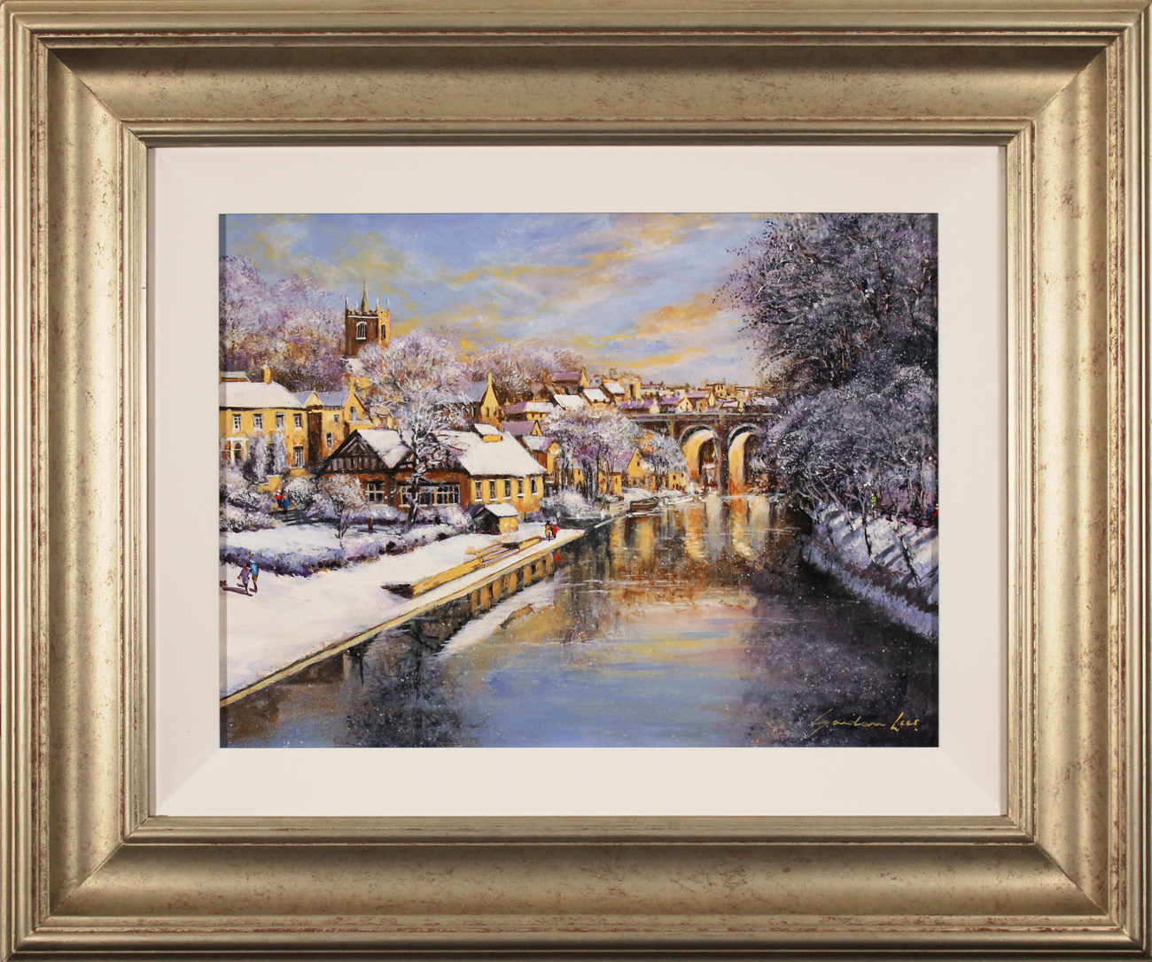 Gordon Lees, Original oil painting on panel, Winter Sun. Click to enlarge