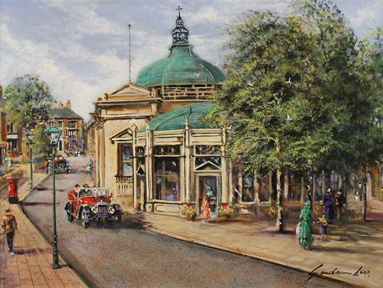 Gordon Lees, Original oil painting on panel, The Royal Pump Room, Harrogate Without frame image. Click to enlarge