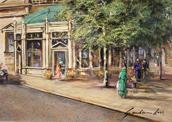 Gordon Lees, Original oil painting on panel, The Royal Pump Room, Harrogate Signature image. Click to enlarge