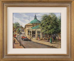 Gordon Lees, Original oil painting on panel, The Royal Pump Room, Harrogate Large image. Click to enlarge