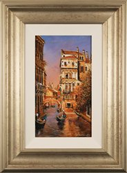 Gordon Lees, Original oil painting on panel, Memories of Venice