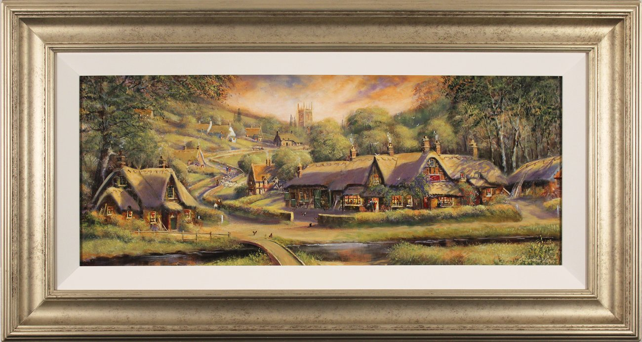 Gordon Lees, Original oil painting on panel, A Summer's Eve, click to enlarge