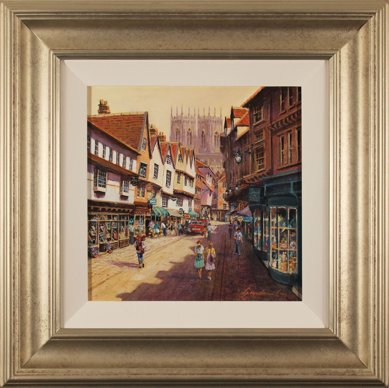 Gordon Lees, Original oil painting on panel, Low Petergate, York. Click to enlarge