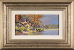 Gordon Lees, Waterside Cottage, Original oil painting on panel