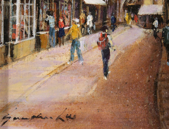 Gordon Lees, Original oil painting on panel, A Day Out in York Signature image. Click to enlarge