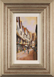 Gordon Lees, Original oil painting on panel, A Day Out in York Large image. Click to enlarge