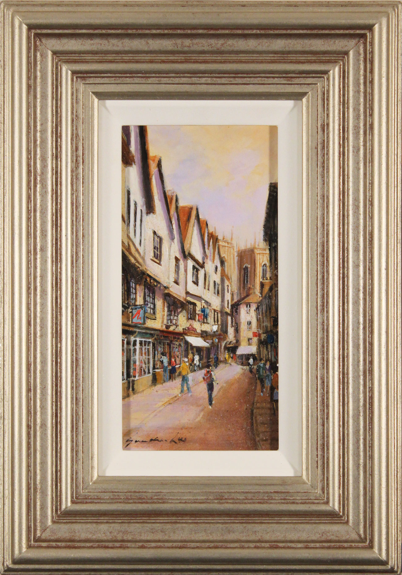 Gordon Lees, Original oil painting on panel, A Day Out in York, click to enlarge