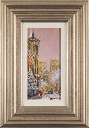 Gordon Lees, Original oil painting on panel, Snow in York