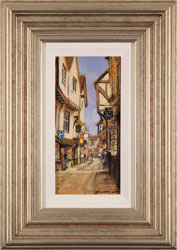 Gordon Lees, Original oil painting on panel, The Shambles