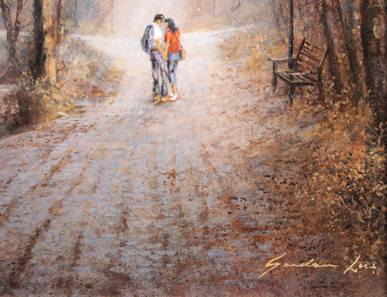 Gordon Lees, Original oil painting on panel, A Shared Moment Signature image. Click to enlarge