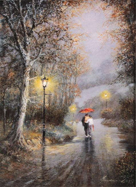 Gordon Lees, Original oil painting on panel, Love's Light No frame image. Click to enlarge