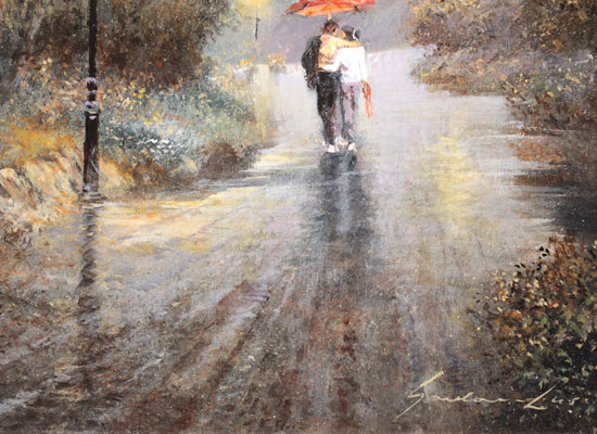 Gordon Lees, Original oil painting on panel, Love's Light Signature image. Click to enlarge