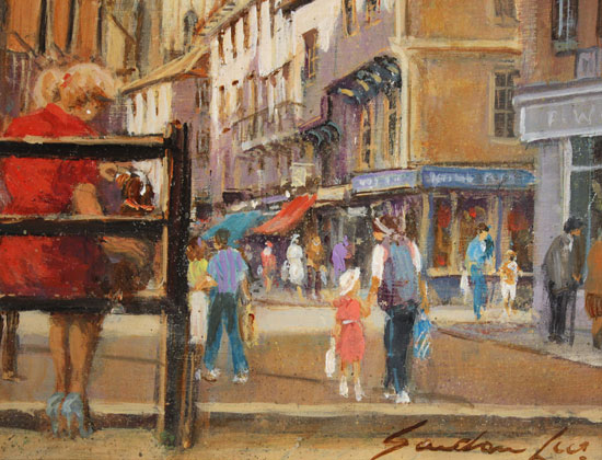 Gordon Lees, Original oil painting on panel, King's Square, York Signature image. Click to enlarge