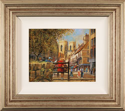 Gordon Lees, Original oil painting on panel, King's Square, York Large image. Click to enlarge