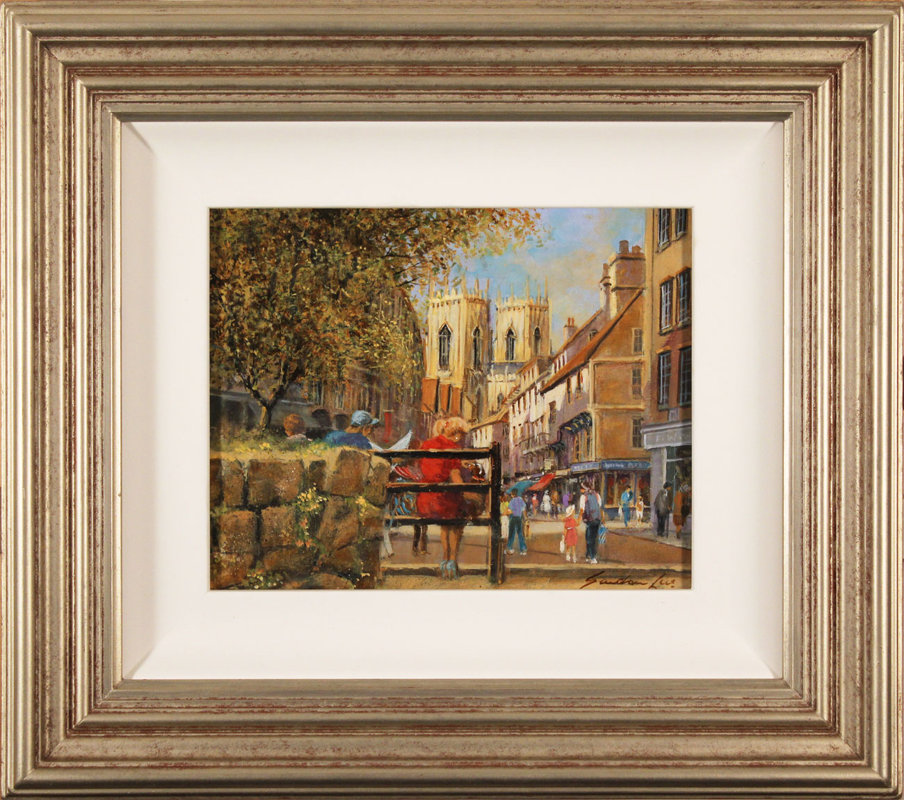 Gordon Lees, Original oil painting on panel, King's Square, York. Click to enlarge