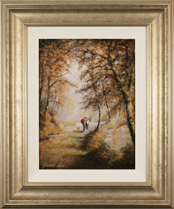 Gordon Lees, Original oil painting on panel, A Walk in the Woods Large image. Click to enlarge