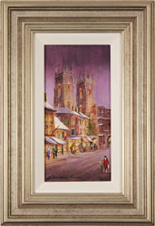 Gordon Lees, Original oil painting on panel, Bootham Bar, York Large image. Click to enlarge